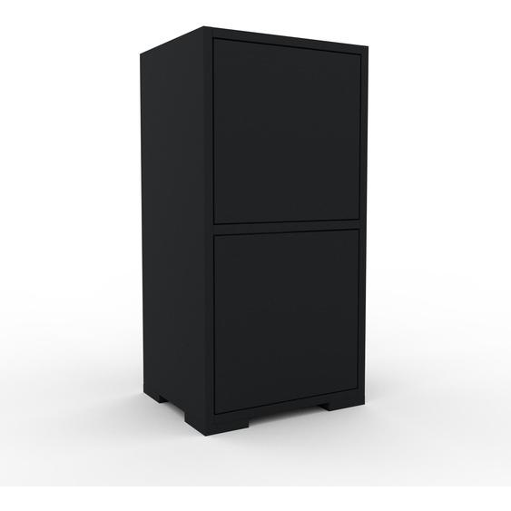 Aktenschrank Schwarz - Flexibler Büroschrank: Türen in Schwarz - Hochwertige Materialien - 41 x 81 x 35 cm, Modular