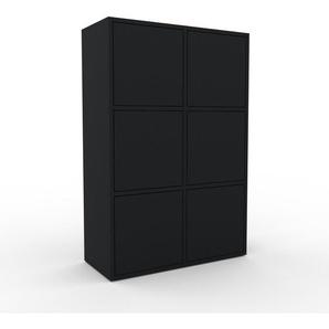Aktenschrank Schwarz - Flexibler Büroschrank: Türen in Schwarz - Hochwertige Materialien - 79 x 118 x 35 cm, Modular