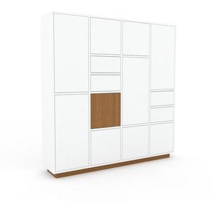 Aktenschrank Weiß - Büroschrank: Schubladen in Weiß & Türen in Weiß - Hochwertige Materialien - 156 x 162 x 35 cm, Modular