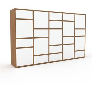 Aktenschrank Weiß - Büroschrank: Schubladen in Weiß & Türen in Weiß - Hochwertige Materialien - 195 x 118 x 35 cm, Modular