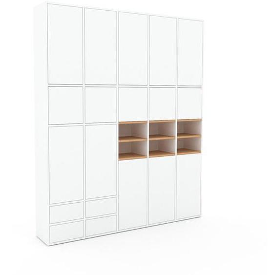 Aktenschrank Weiß - Büroschrank: Schubladen in Weiß & Türen in Weiß - Hochwertige Materialien - 195 x 234 x 35 cm, Modular