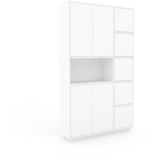 Aktenschrank Weiß - Flexibler Büroschrank: Türen in Weiß - Hochwertige Materialien - 116 x 200 x 35 cm, Modular