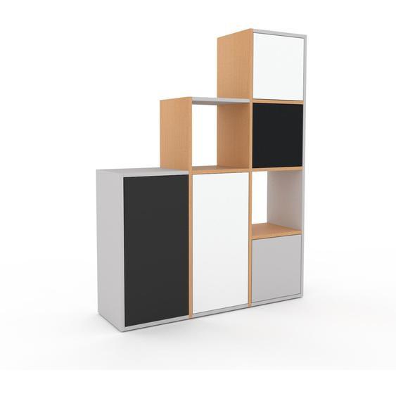 Aktenschrank Weiß - Flexibler Büroschrank: Türen in Weiß - Hochwertige Materialien - 118 x 157 x 35 cm, Modular