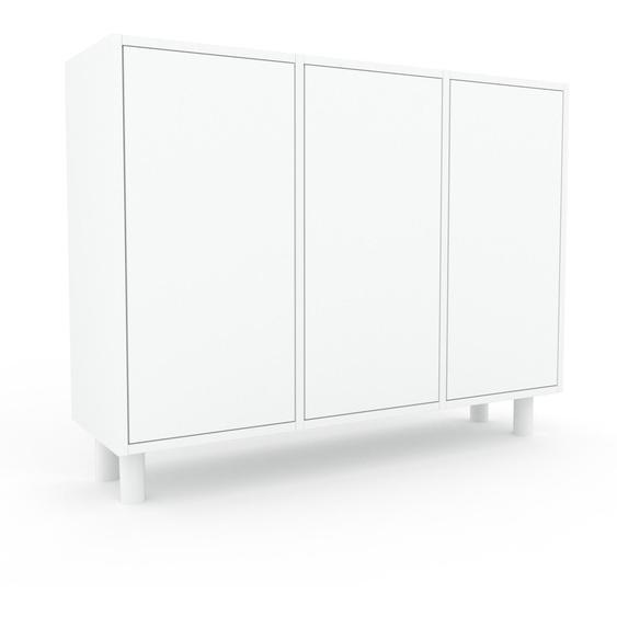 Aktenschrank Weiß - Flexibler Büroschrank: Türen in Weiß - Hochwertige Materialien - 118 x 91 x 35 cm, Modular