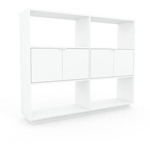 Aktenschrank Weiß - Flexibler Büroschrank: Türen in Weiß - Hochwertige Materialien - 152 x 124 x 35 cm, Modular