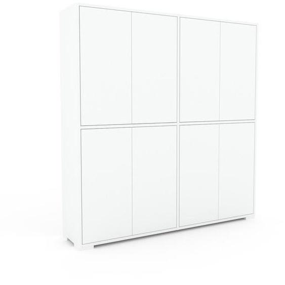 Aktenschrank Weiß - Flexibler Büroschrank: Türen in Weiß - Hochwertige Materialien - 152 x 158 x 35 cm, Modular