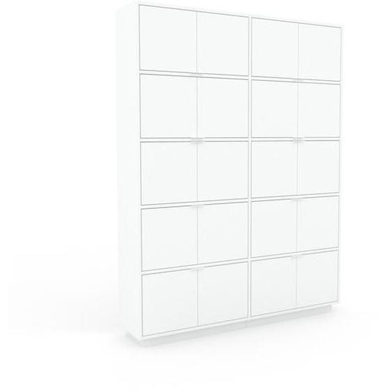 Aktenschrank Weiß - Flexibler Büroschrank: Türen in Weiß - Hochwertige Materialien - 152 x 200 x 35 cm, Modular