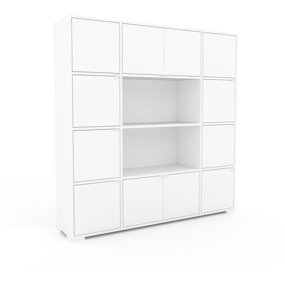 Aktenschrank Weiß - Flexibler Büroschrank: Türen in Weiß - Hochwertige Materialien - 154 x 158 x 35 cm, Modular