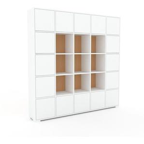 Aktenschrank Weiß - Flexibler Büroschrank: Türen in Weiß - Hochwertige Materialien - 195 x 196 x 35 cm, Modular