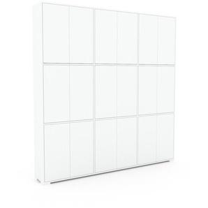Aktenschrank Weiß - Flexibler Büroschrank: Türen in Weiß - Hochwertige Materialien - 226 x 235 x 35 cm, Modular