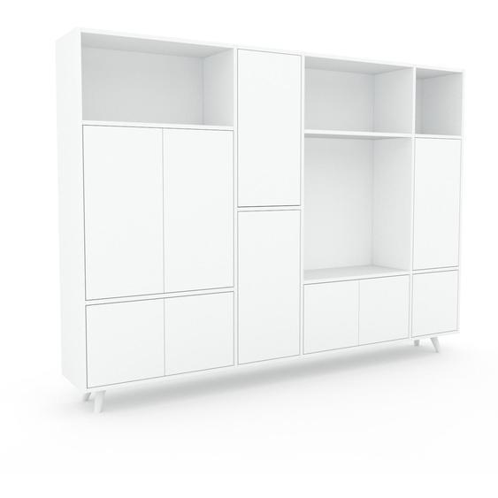 Aktenschrank Weiß - Flexibler Büroschrank: Türen in Weiß - Hochwertige Materialien - 229 x 168 x 35 cm, Modular