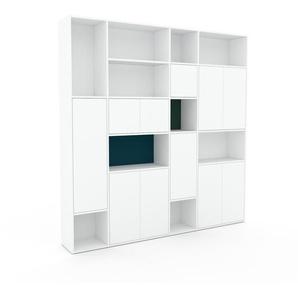 Aktenschrank Weiß - Flexibler Büroschrank: Türen in Weiß - Hochwertige Materialien - 229 x 234 x 35 cm, Modular