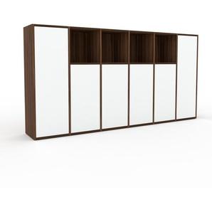 Aktenschrank Weiß - Flexibler Büroschrank: Türen in Weiß - Hochwertige Materialien - 233 x 118 x 35 cm, Modular