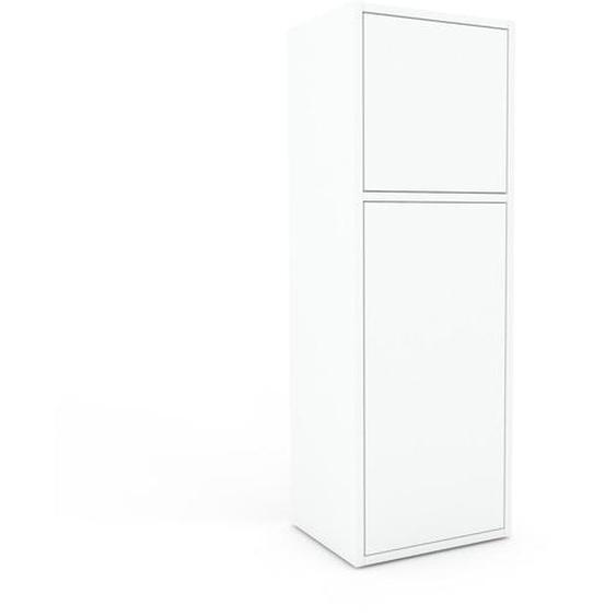 Aktenschrank Weiß - Flexibler Büroschrank: Türen in Weiß - Hochwertige Materialien - 41 x 118 x 35 cm, Modular