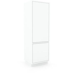 Aktenschrank Weiß - Flexibler Büroschrank: Türen in Weiß - Hochwertige Materialien - 41 x 124 x 35 cm, Modular