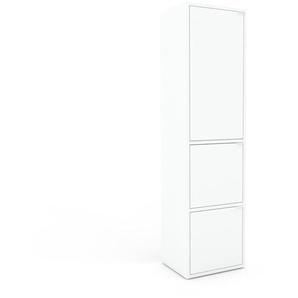 Aktenschrank Weiß - Flexibler Büroschrank: Türen in Weiß - Hochwertige Materialien - 41 x 157 x 35 cm, Modular