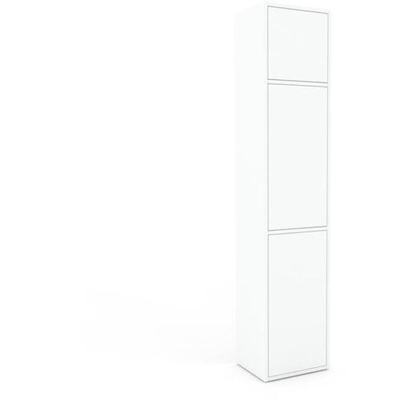 Aktenschrank Weiß - Flexibler Büroschrank: Türen in Weiß - Hochwertige Materialien - 41 x 195 x 35 cm, Modular