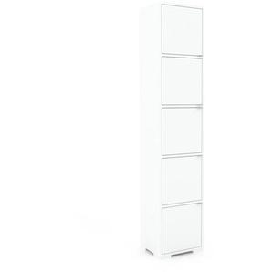 Aktenschrank Weiß - Flexibler Büroschrank: Türen in Weiß - Hochwertige Materialien - 41 x 196 x 35 cm, Modular