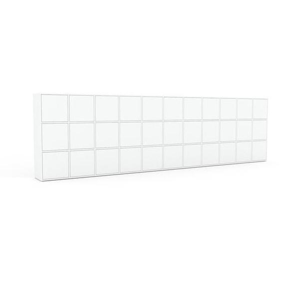 Aktenschrank Weiß - Flexibler Büroschrank: Türen in Weiß - Hochwertige Materialien - 426 x 118 x 35 cm, Modular