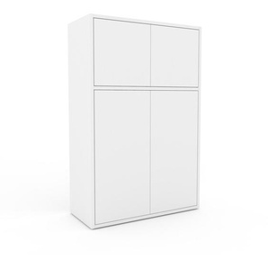 Aktenschrank Weiß - Flexibler Büroschrank: Türen in Weiß - Hochwertige Materialien - 77 x 118 x 35 cm, Modular