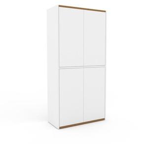 Aktenschrank Weiß - Flexibler Büroschrank: Türen in Weiß - Hochwertige Materialien - 77 x 157 x 35 cm, Modular