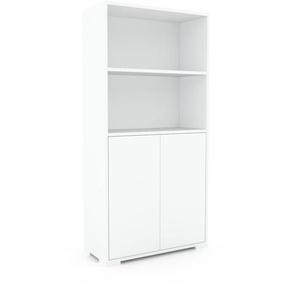 Aktenschrank Weiß - Flexibler Büroschrank: Türen in Weiß - Hochwertige Materialien - 77 x 158 x 35 cm, Modular