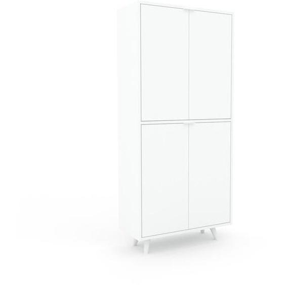 Aktenschrank Weiß - Flexibler Büroschrank: Türen in Weiß - Hochwertige Materialien - 77 x 168 x 35 cm, Modular
