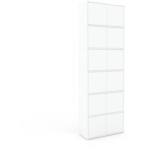 Aktenschrank Weiß - Flexibler Büroschrank: Türen in Weiß - Hochwertige Materialien - 77 x 233 x 35 cm, Modular