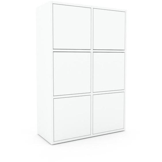 Aktenschrank Weiß - Flexibler Büroschrank: Türen in Weiß - Hochwertige Materialien - 79 x 118 x 35 cm, Modular