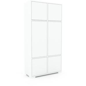 Aktenschrank Weiß - Flexibler Büroschrank: Türen in Weiß - Hochwertige Materialien - 79 x 158 x 35 cm, Modular
