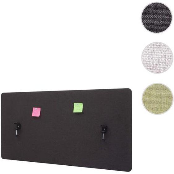 Akustik-Tischtrennwand HWC-G75, B�ro-Sichtschutz Schreibtisch Pinnwand, doppelwandig Stoff/Textil ~ 120x60cm braun-grau