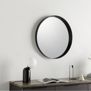 Alana runder Spiegel (50 cm), mattes Schwarz