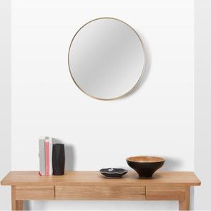 Alana runder Spiegel (50 cm), Messing