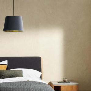 Alderton Lampenschirm, Samt in Grau und Messing
