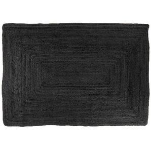 Alex - Jute Teppich, schwarz,  240 x 180