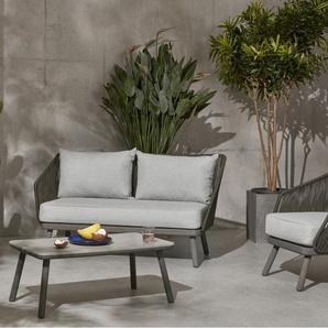 Alif 2-Sitzer Sofa, Eukalyptus in Grau