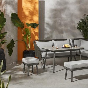 Alif Garten Essgruppe, Beton und Eukalyptus in Grau