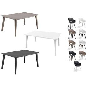 Allibert Gartenmöbel Set »Akola-Lima«, mit 4 Stühlen und 1 Tisch, witterungsbeständig