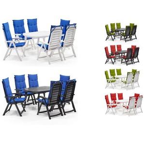 Allibert Gartenmöbel Set »Garda«, mit 6 Klappsesseln und 1 Tisch, witterungsbeständig