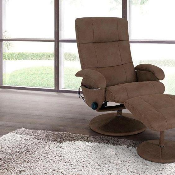 Massage-Sessel, 73x100x50 cm (BxHxT), Alpha Techno, braun, Material Metall, Polyester