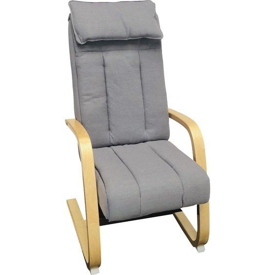 Alpha Techno Massagesessel AT 233, Shiatsu, Partiell und Roll-Massage, 3 Massagezonen individuell auwählbar Strukturstoff, Massagefunktion-Gleitsystem-Relaxfunktion-Rückteilverstellung grau Sessel