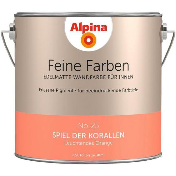 Alpina Wand- und Deckenfarbe »Feine Farben - Spiel der Korallen«, 2,5 Liter, orange