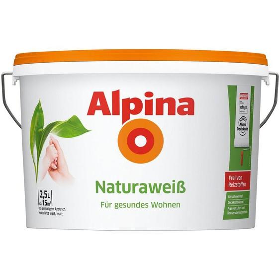 Alpina Wand- und Deckenfarbe »Naturaweiß«, für Beton, Gips, Mauerwerk und Tapeten