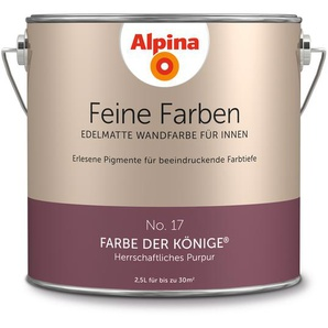 Alpina Wandfarbe Feine Farben No. 17 Farbe der Könige, purpur, 2,5 l