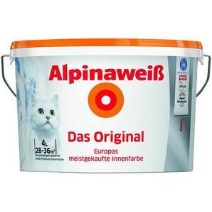 Alpinaweiß Premium-Innenfarbe Das Original, weiß, 4 l