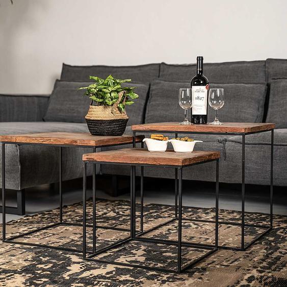 Altholztisch Set handgearbeitet Loft Design (3-teilig)