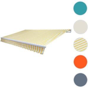 Alu-Markise T790, Gelenkarmmarkise Sonnenschutz 4x3m ~ Polyester Gelb/Wei