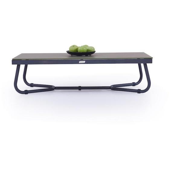 Aluminium Gartentisch 118 cm in Anthrazit - Tisch Astra 118 cm