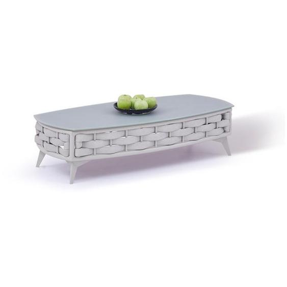 Aluminium Gartentisch in Seidengrau - Tisch Coco 126 cm
