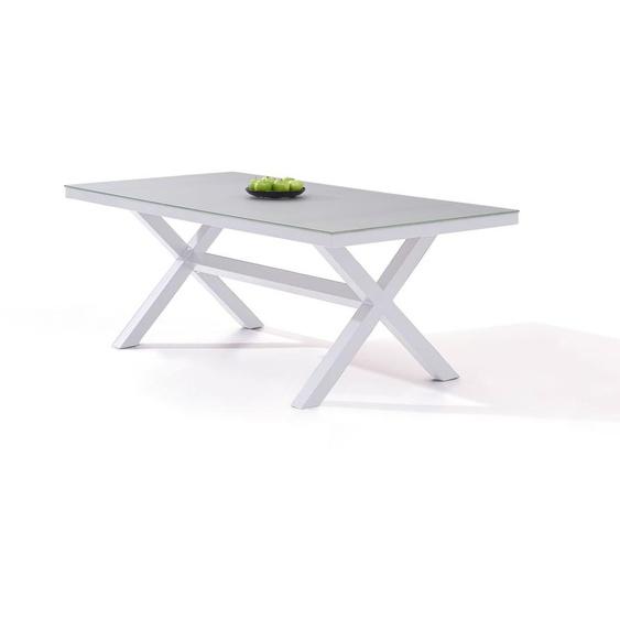 Aluminium Gartentisch in Weiß - Iks 200 cm